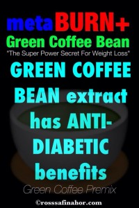 green coffee bean has anti diabetic benefits